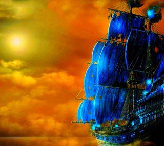 Обои на телефон военно морские, фантазия, старые, облака, лодки, корабли, закат, old ship