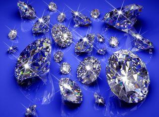 Обои на телефон сияние, фон, синие, сверкающие, камни, бриллианты, абстрактные