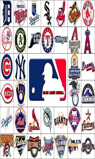 Обои на телефон спортивные, спорт, мяч, логотипы, команда, игроки, бейсбол, арт, mlb logos, mlb, art