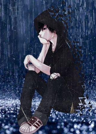 Обои на телефон мальчик, лайк, грустные, аниме, slowly fading, save