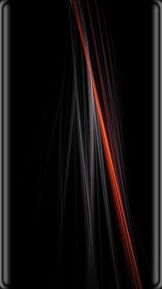 Обои на телефон черные, серые, оранжевые, линии, грани, абстрактные, s8, s7