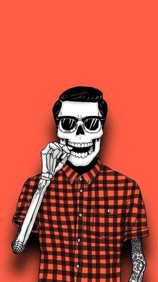 Обои на телефон череп, хипстер, hipster skull, fghm