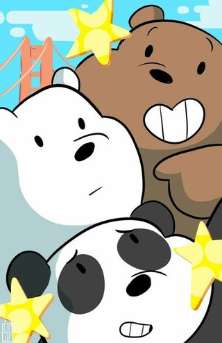 Обои на телефон медведь, панда, медведи, лед, ice bear, grizzly