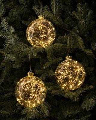 Обои на телефон дерево, рождество, огни, золотые