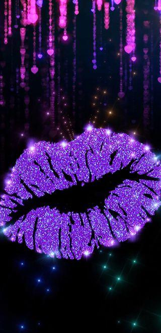 Обои на телефон губы, фиолетовые, симпатичные, сверкающие, розовые, поцелуй, девчачие, блестящие