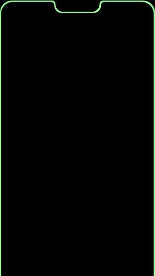 Обои на телефон выемка, эпл, синие, зеленые, грани, notch green, notch blue, apple