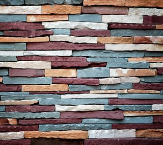 Обои на телефон цветные, камни, фон, стена, естественные, stone wall