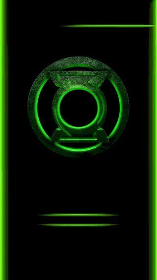 Обои на телефон фонарь, комиксы, зеленые, грани, герой, green lantern edge
