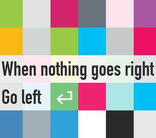 Обои на телефон шутка, стрела, слева, красочные, комедия, забавные, go left, enter, direction