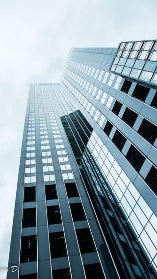 Обои на телефон архитектура, стекло, серые, серебряные, небо, здания, tall
