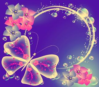 Обои на телефон цветочные, круги, бабочки, абстрактные, butterfly florals, abstract circle, abstract butterfly