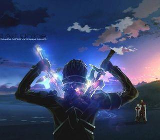 Обои на телефон сао, меч, кирито, арт
