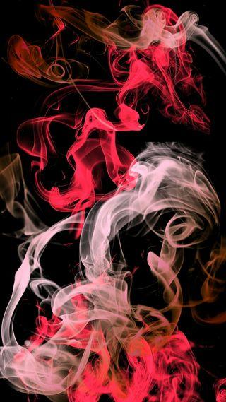 Обои на телефон дым, красые, белые