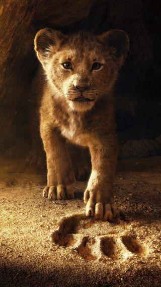 Обои на телефон маленький, лев, король