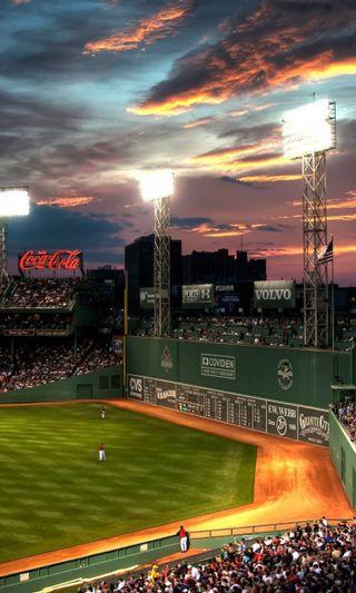 Обои на телефон парк, красые, бостон, бейсбол, sox, mlb, fenway