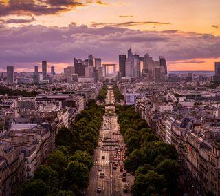 Обои на телефон франция, путь, париж, европа, евро, дорога, город