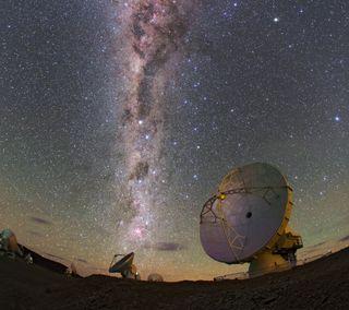 Обои на телефон ночь, небо, космос, звезды, звезда, satellite, dish stars, dish