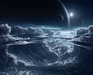 Обои на телефон планеты, солнце, облака, planets 4k