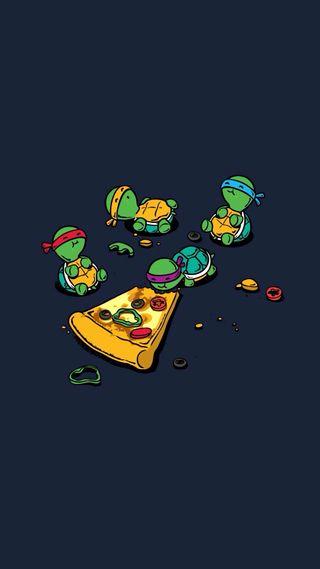 Обои на телефон черепашки ниндзя, черепахи, черепаха, пицца, ниндзя
