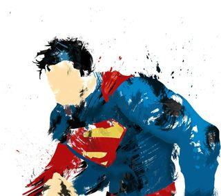 Обои на телефон супермен, минимализм