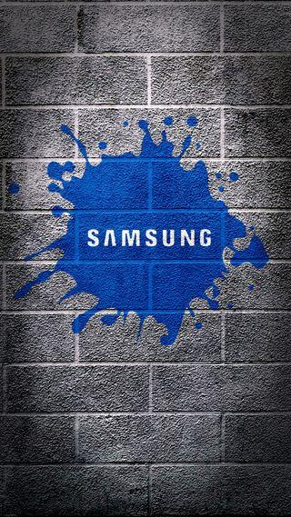 Обои на телефон стена, синие, самсунг, samsung wallpaper, samsung