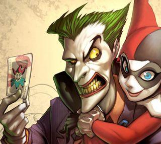 Обои на телефон харли, поцелуй, любовь, джокер, joker love