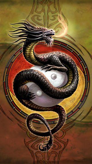 Обои на телефон янь, китай, огонь, логотипы, инь, знаки, дракон, dragon