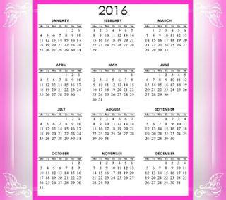 Обои на телефон календарь, новый, calendar 2016