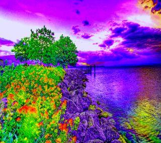 Обои на телефон взгляд, весна, good, coastal spring