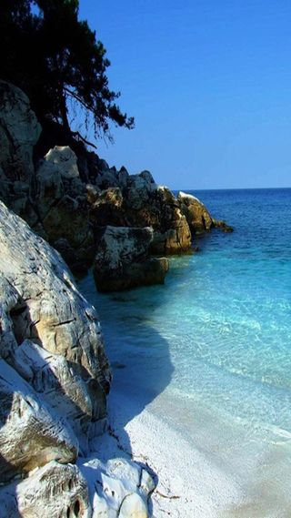 Обои на телефон рай, море