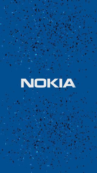 Обои на телефон нокиа, синие, логотипы, андроид, android