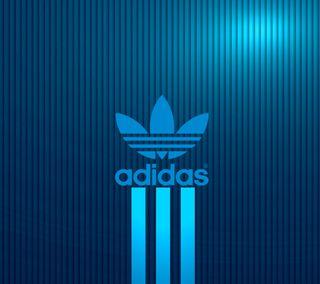 Обои на телефон сияние, адидас, синие, логотипы, adidas