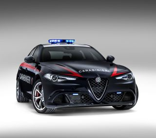 Обои на телефон полиция, черные, синие, красые, италия, alfa romeo
