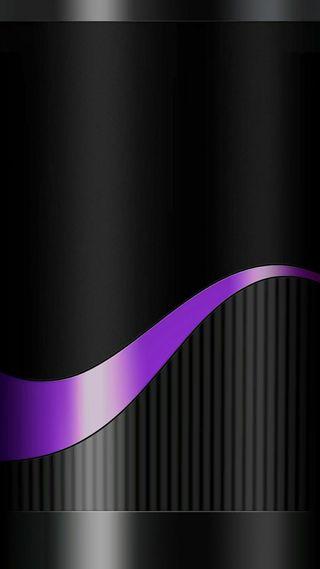 Обои на телефон черные, фиолетовые, металлические, линии, грани, абстрактные, s8, s7