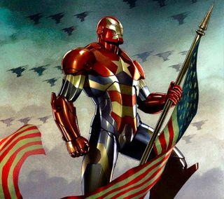 Обои на телефон анимационные, флаг, мультфильмы, комиксы, железный, man, iron man hd