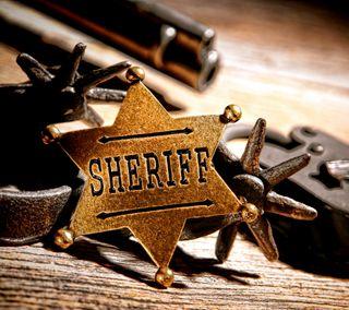Обои на телефон пистолет, значок, золотые, дикие, американские, west, sheriff