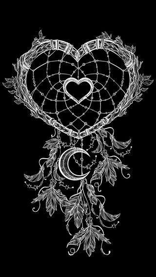 Обои на телефон ловец снов, сердце, абстрактные, heart shaped