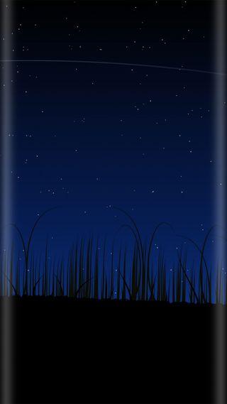 Обои на телефон трава, стиль, синие, ночь, красота, звезды, грани, абстрактные, s7, edge style