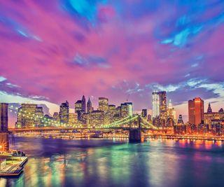 Обои на телефон юнайтед, свет, новый, мост, манхэттен, brooklyn bridge