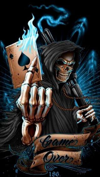 Обои на телефон wow, clans, game over, крутые, темные, игра, череп, король, смерть, королева, карты, жнец