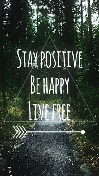 Обои на телефон happy, live, stay, счастливые, свобода, позитивные