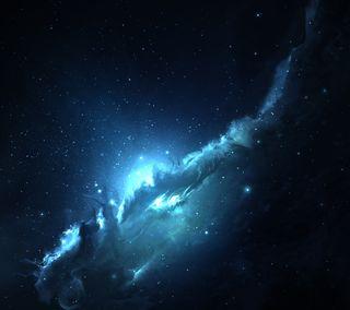 Обои на телефон туманность, трон, светящиеся, космос, звезда