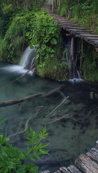 Обои на телефон природа, дорога, вода
