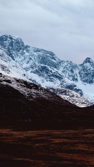 Обои на телефон холод, чистые, снег, природа, норвегия, горы, jotunheimen