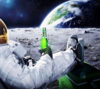Обои на телефон космонавт, приятные, луна, крутые, космос, классные, земля, звезды, звезда, вид, awesome view