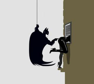 Обои на телефон galaxy nexus, galaxy s3, the bat, галактика, бэтмен, летучая мышь, женщина кошка
