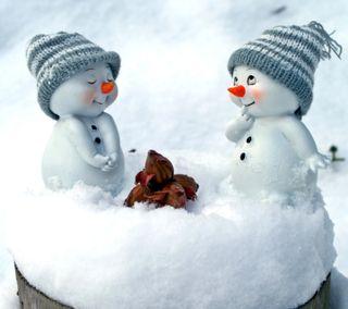 Обои на телефон снеговик, снег, милые, любовь, зима, love