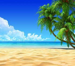 Обои на телефон сцена, свежие, приятные, природа, пляж, море, лето, крутые, вид, summer beach
