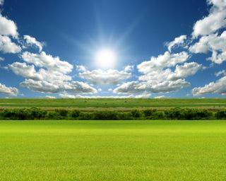 Обои на телефон трава, природа, пейзаж, облака, небо, восход