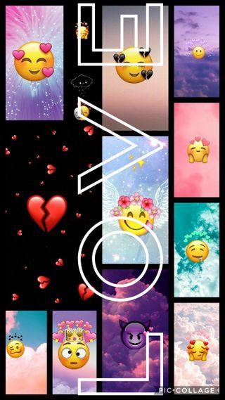 Обои на телефон эмоджи, любовь, love